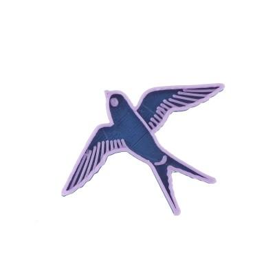 Vlaštovka green blue/violet