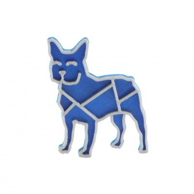 Bulldog nobble blue/silver