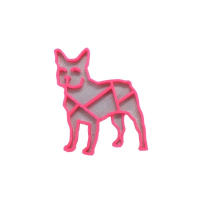 Bulldog silver/magenta