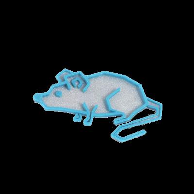 Myš silver/turqouise blue
