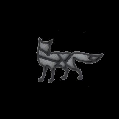 Liška silver/black