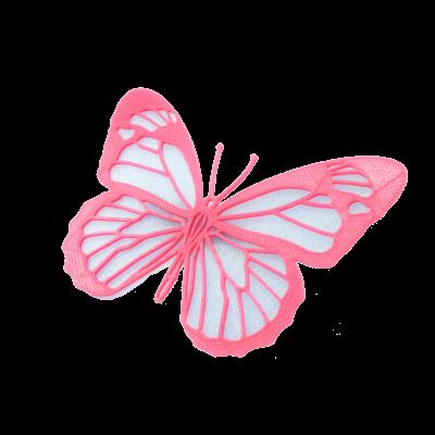 Motýl iceland blue/magenta