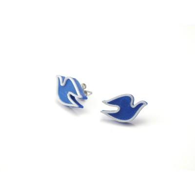 Holubičky nobble blue/silver