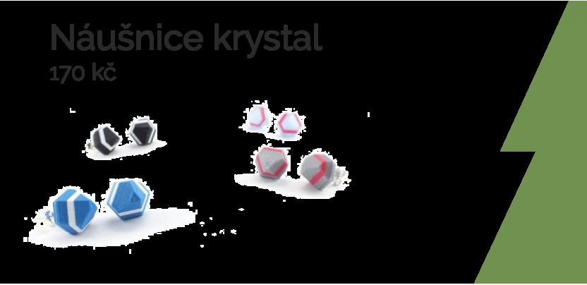 Náušnice krystal